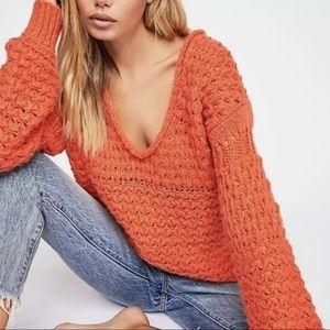 FP Crashing Waves Pullover Oversized Knit Crochet